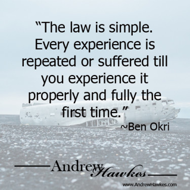Andrew-Hawkes-The-Law-(karma)-is-Simple-Ben-Okri